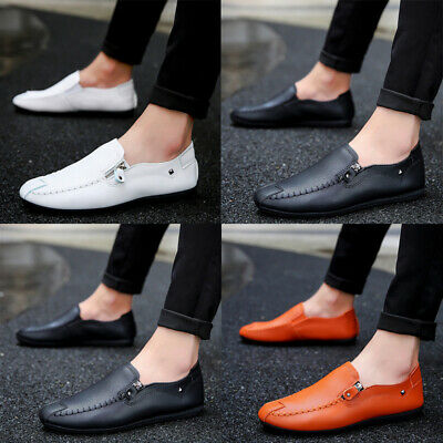 Men/'s PLATINI Brown Blue Black suede loafers slip on casual driving shoes