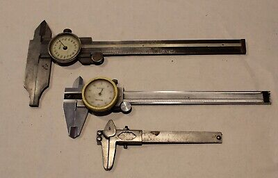 Helios Fowler Etc.Dial Caliper Lot Machinist Mill Gage Tools Stainless Steel