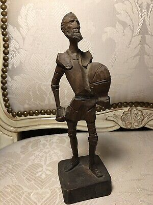 Vintage Ouro Artesania Don Quixote Carved Wood Spain