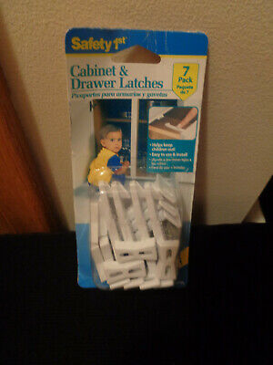Safety 1st NIP 7 pack White Cabinet & Drawer Latches
