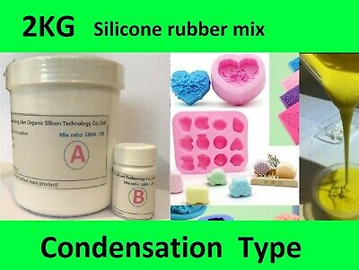 2KG Silicone Rubber Mould making Mix, White, Candles, Fishing lures, Resin