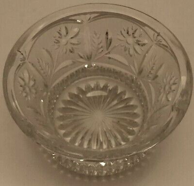 Lausitzer Glass 24% Lead Crystal Hand Cut Floral Bowl