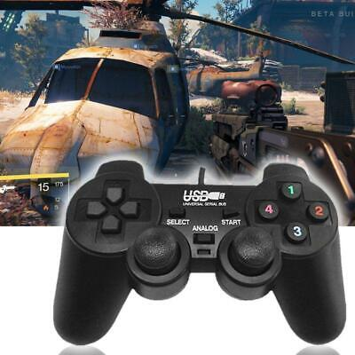 Wired Game Controller USB Joystick Gamepad Joypad for PC Dual Shock Vibration