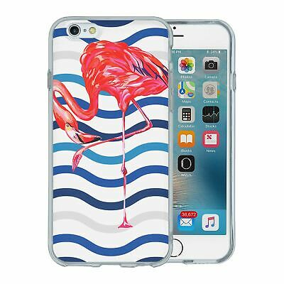 Pour Apple IPHONE 6 6S Silicone Étui Flamant Rose Tropical Motif - S5636