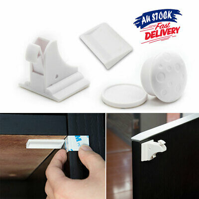 Kids No Drilling Drawer Cabinet Safety Lock Cupboard Magnetic Baby Locks