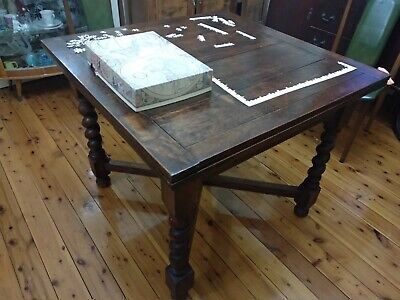 Antique Tudor-Style Extendable Dining Table