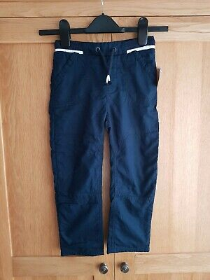 Lovely Boys Navy Lined Trousers. Age 5-6 Years. Bnwt