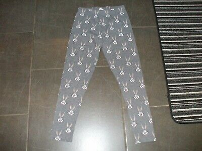 Girls Next Leggings Age 10 Non Smoke House  Cotton Perfect Grey Bugs Bunny