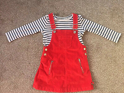 Girls Junior J Jasper Conran Red Pinafore And Top Outfit  3-4 Years