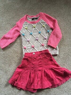 knitted jumper and skirt