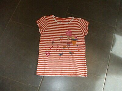 Girls T Shirt By Next Age 9 Cotton Orange With Ice Cream Motifs Non Smoke House