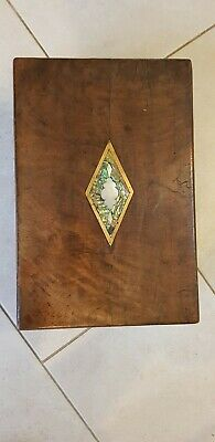 Writing slope inlaid with mother of pearl. Good condition.
