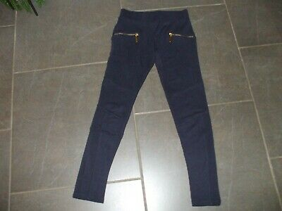 Girls Next Leggings Age 11 Non Smoke House Poly Visc Perfect Navy Blue