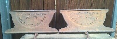 Antique Vintage John Danks & Son Cast Iron Farm Pig Trough Ends