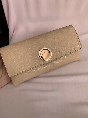 BNWT Mimco Flip Side Large Wallet In Porcelain Beige RRP$229 Pouch Bag