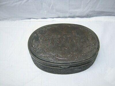 Antique Silver Plate Copper Dresser-Trinket-Jewelry Box Barbour Silver Co