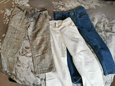 Girls Trouser Bundle.Age 4. Mothercare, Next,. Denim Co, Jeans Linen Cropped