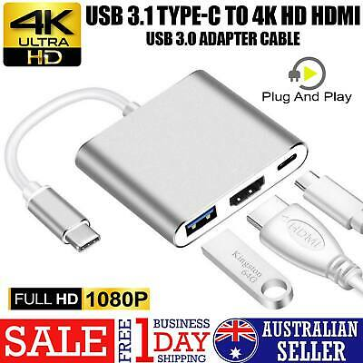 Type-C 3.1 to 4K HDMI +VGA Port USB-C HUB Adapter Converter For MacBook Pro AUS
