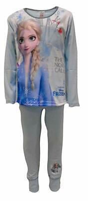 Girls Disney Frozen 2 Elsa Long Pyjamas Pjs Age 4-10 Year The North Calls