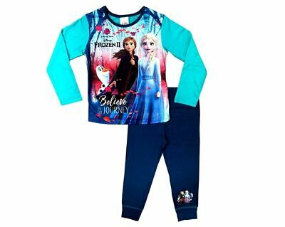 Girls Disney Frozen 2 Elsa Long Pyjamas Pjs Age 4-10 Years Belive In the Journey
