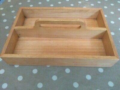 Vintage Style Cutlery Wooden Tray