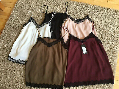 Bundle of Ladies Cami Tops Size 12 x5