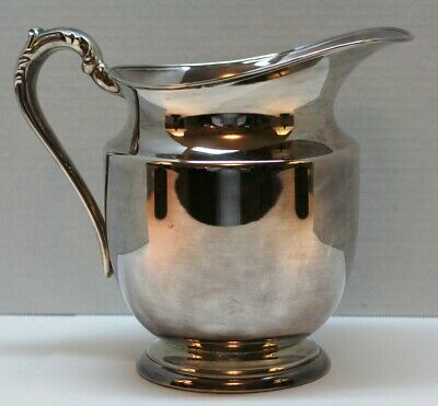 F.B.Rogers Silver Company Taunton, Mass Silver on Copper Pitcher #1707 Used Cond