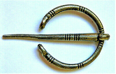 Beautiful Brand New Ancient Viking / Celtic Style Goldened / Brass Brooch Pin