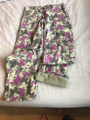 Girls Camoflague Lined Trousers 152CM