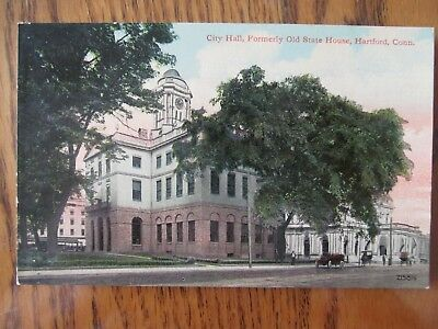 Vintage Postcard City Hall Formerly Old State House Hartford Connecticut