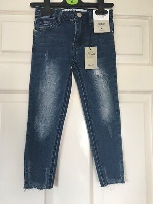 BNWT Primark Skinny Jeans With Adjustable Waistband Age 4-5 Years