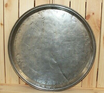 Antique 19c hand made tinned copper tray baking dish