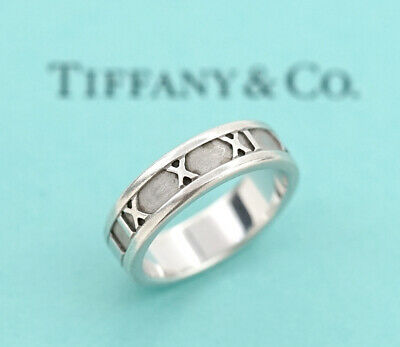 TIFFANY&Co Atlas Band Ring size US 7.25 Sterling Silver 925 n36994