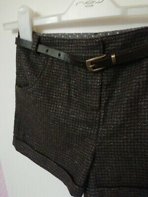 Girl herringbone type tailored shorts, brand new with tags, 9y