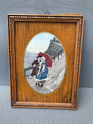 Antique Painting Glazed Door Photos Scenery Amatory French Antique Photo Frames