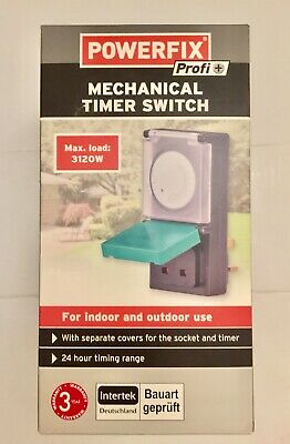 POWERFIX Mechanical Timer Switch For Indoor & Outdoor Use With Covers