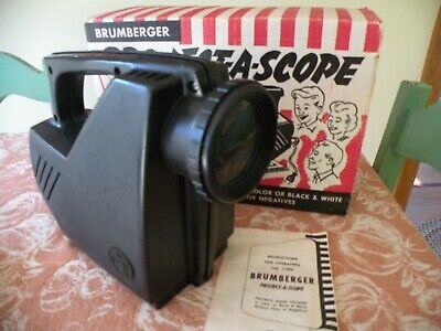 Vintage BRUMBERGER PROJECT-A-SCOPE Orig. Box, Picture Projector #290 excellent!