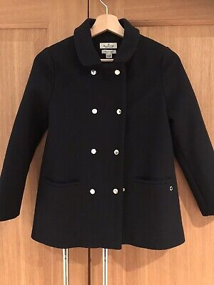 Girls Massimo Dutti Navy Blue Wool Jacket Age 9-10