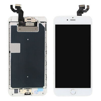 White For iPhone 6S Plus LCD 3D Touch Screen Replacement+Camera+Rose Gold Button