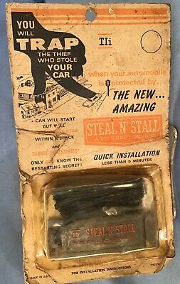 NOS vintage GM/CHEVY Ford Mopar old auto hot rod STEAL•N•STALL Anti-Theft DEVICE