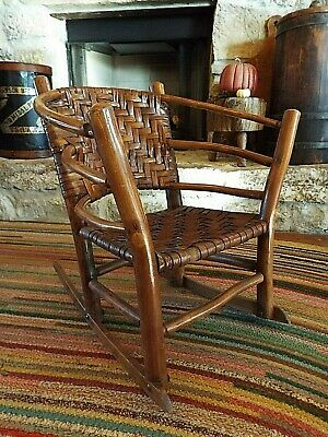 Antique Hoop Back Bentwood Old Hickory Child's Rocker Attrib. To The Colfax Hic
