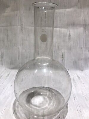 🌡 Boiling flask Pyrex Large 2000ml 2l lab glassware Round Base VGC