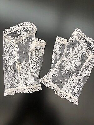 Woman's White Wedding Gloves Lacey Style