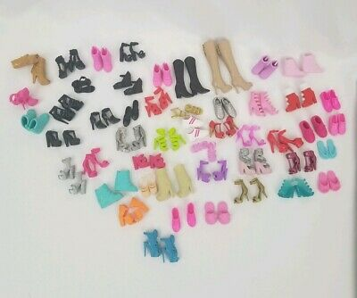 Barbie Doll 49 Pairs of Shoes Heels wedges EUC Pre-owned