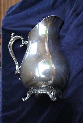 Vintage Victorian style Wm. Rogers #817 Silver plate water pitcher