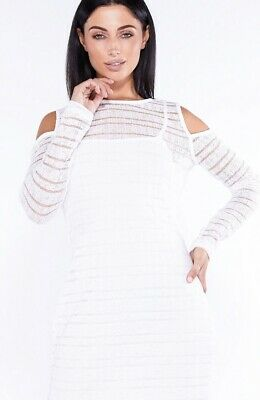 Brand New With Tags Size 12 White Jumper Dress