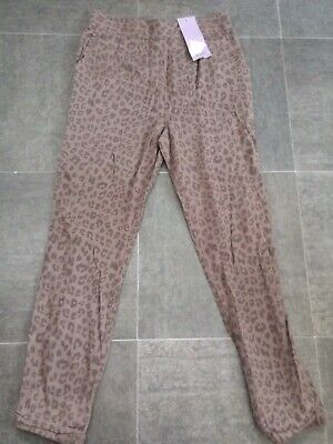 Girls Leopard Print Chinos Size 8-9 Years New!