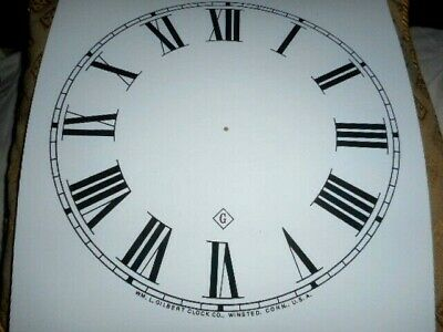 Large Gilbert Paper (Card) Clock Dial- 278mm  M/T-Roman-MATT WHITE-Parts/Spares