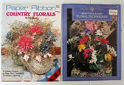 Set 2 Craft Booklets: Paper Ribbon Country Florals & Easy Floral Techniques