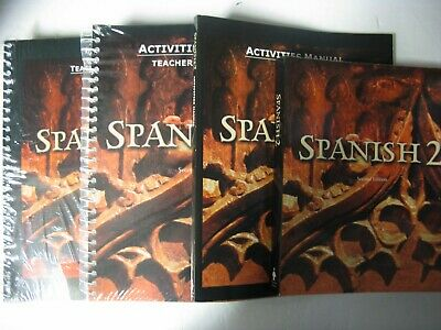 4 Pc.complete Set Bju Spanish 2 For Christian Schools-2Nd Edition -Very Nice Set